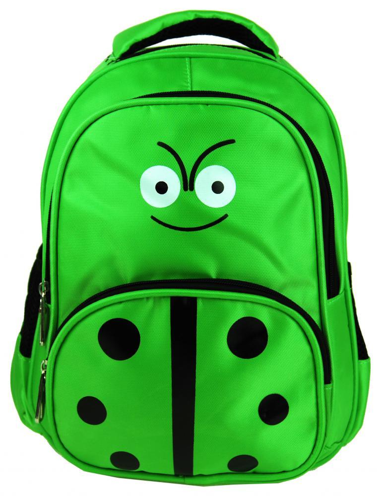 Zelený dětský batůžek s beruškou