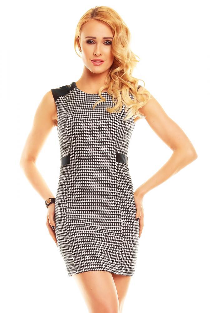 Čierno-biele elegantné dámske letné šaty Jayloucy, M