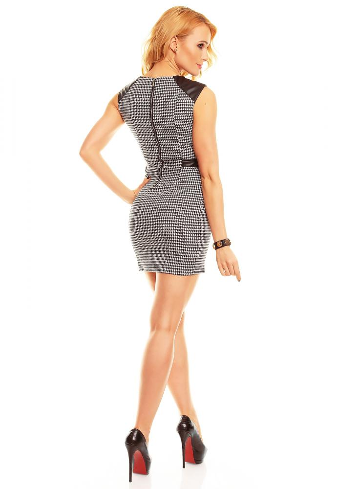 Černo-bílé elegantní dámské letní šaty Jayloucy velikost M