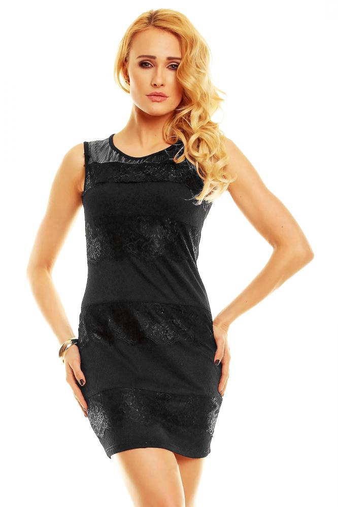 Černé dámské letní šaty Luxestar velikost L