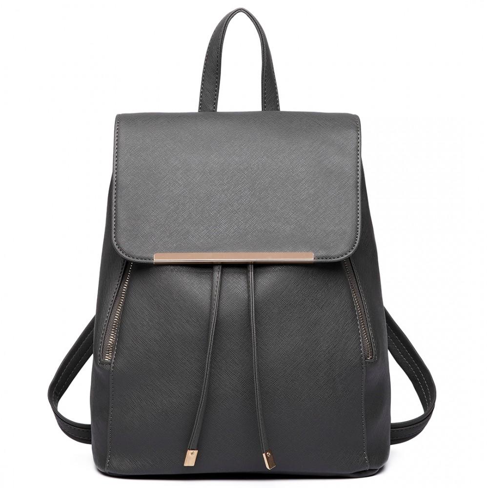 LULU BAGS Stylový dámský modní batoh E1669 šedý