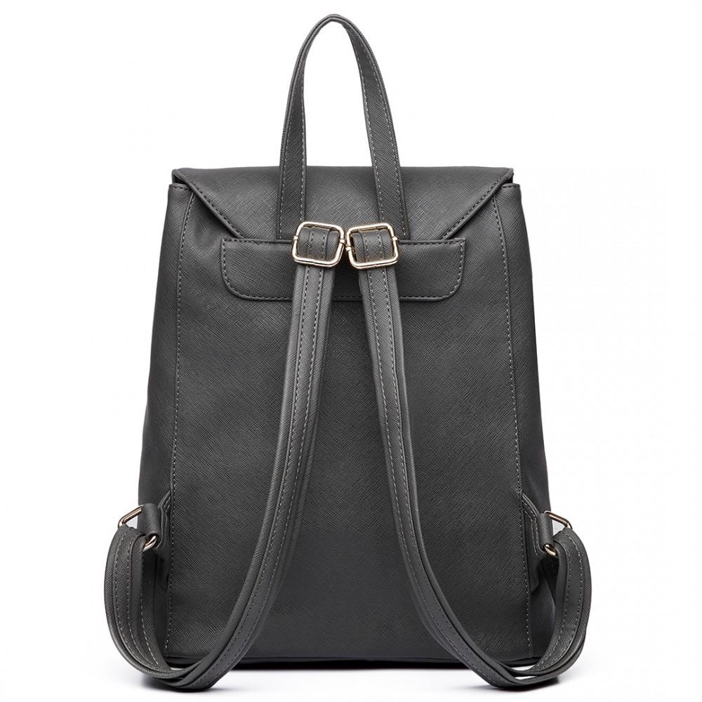 Štýlový dámsky módny batoh E1669 šedý
