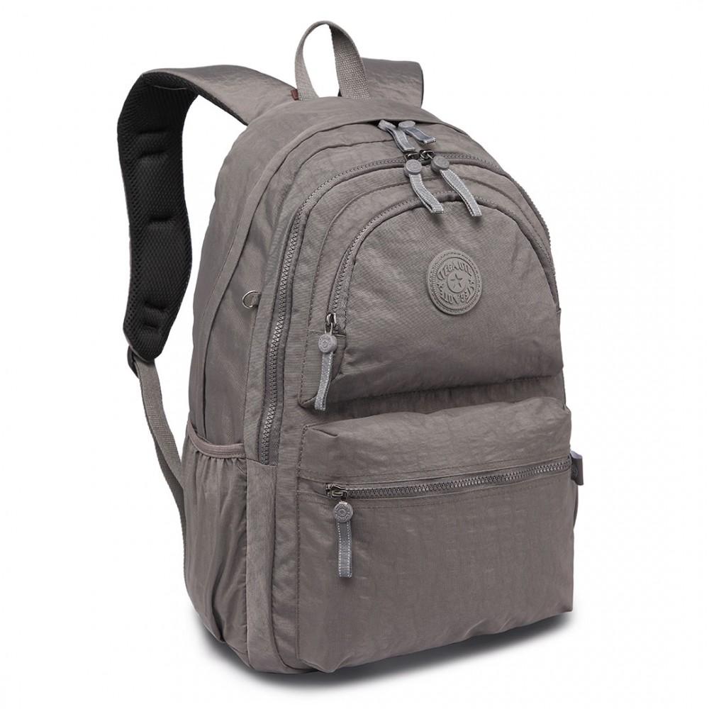 Kvalitný šedý batoh s vodoodpudivou povrchovou úpravou Miss Lulu