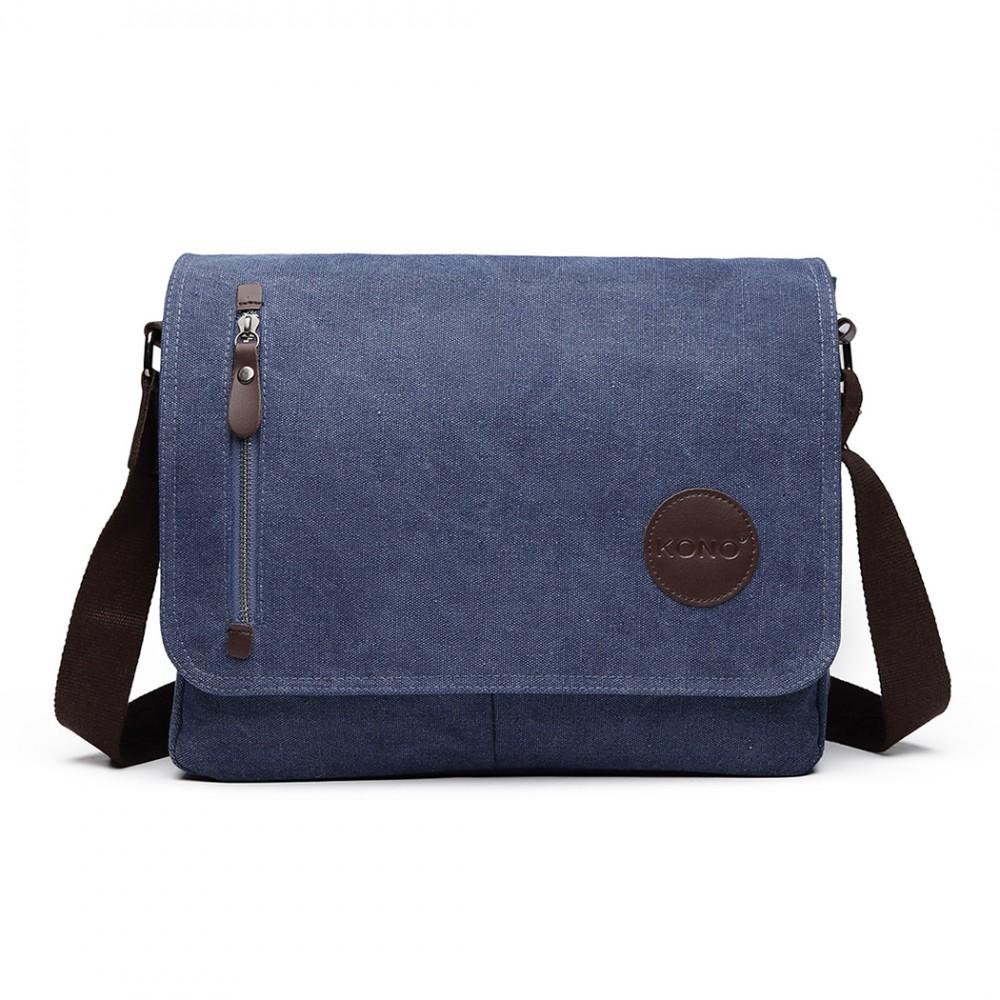 KONO pánska crossbody messenger taška E1824 modrá