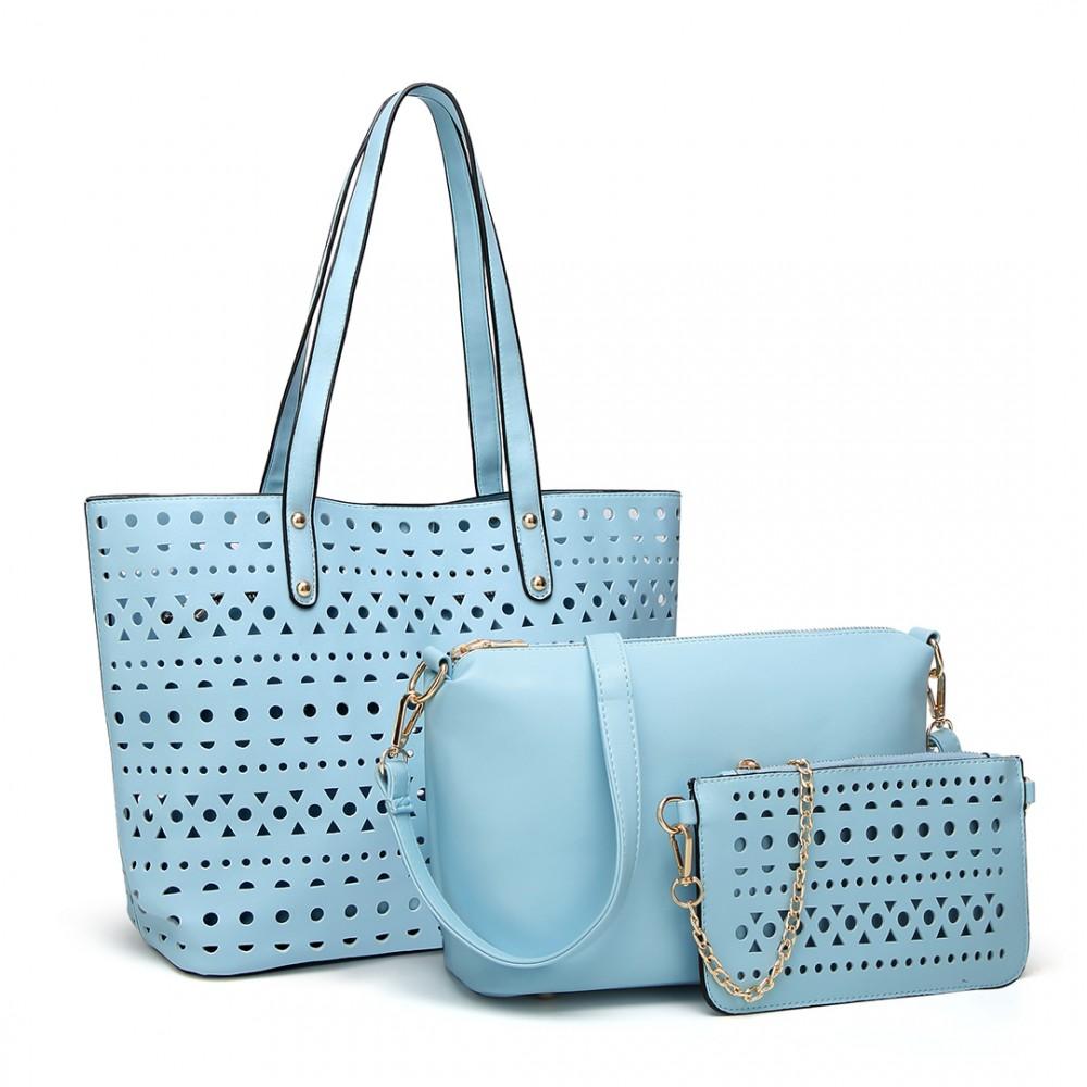 Modrý dámsky kabelkový set 3v1 Miss Lulu