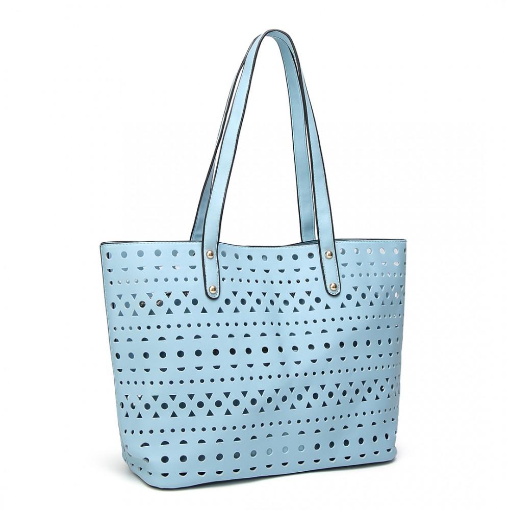 Modrý dámský kabelkový set 3v1 Miss Lulu