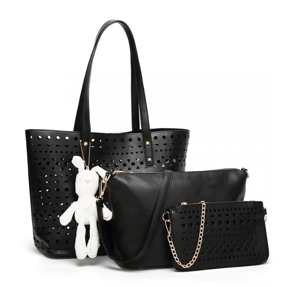 6dfb771ba Černý dámský kabelkový set Rabbit 3v1 Miss Lulu