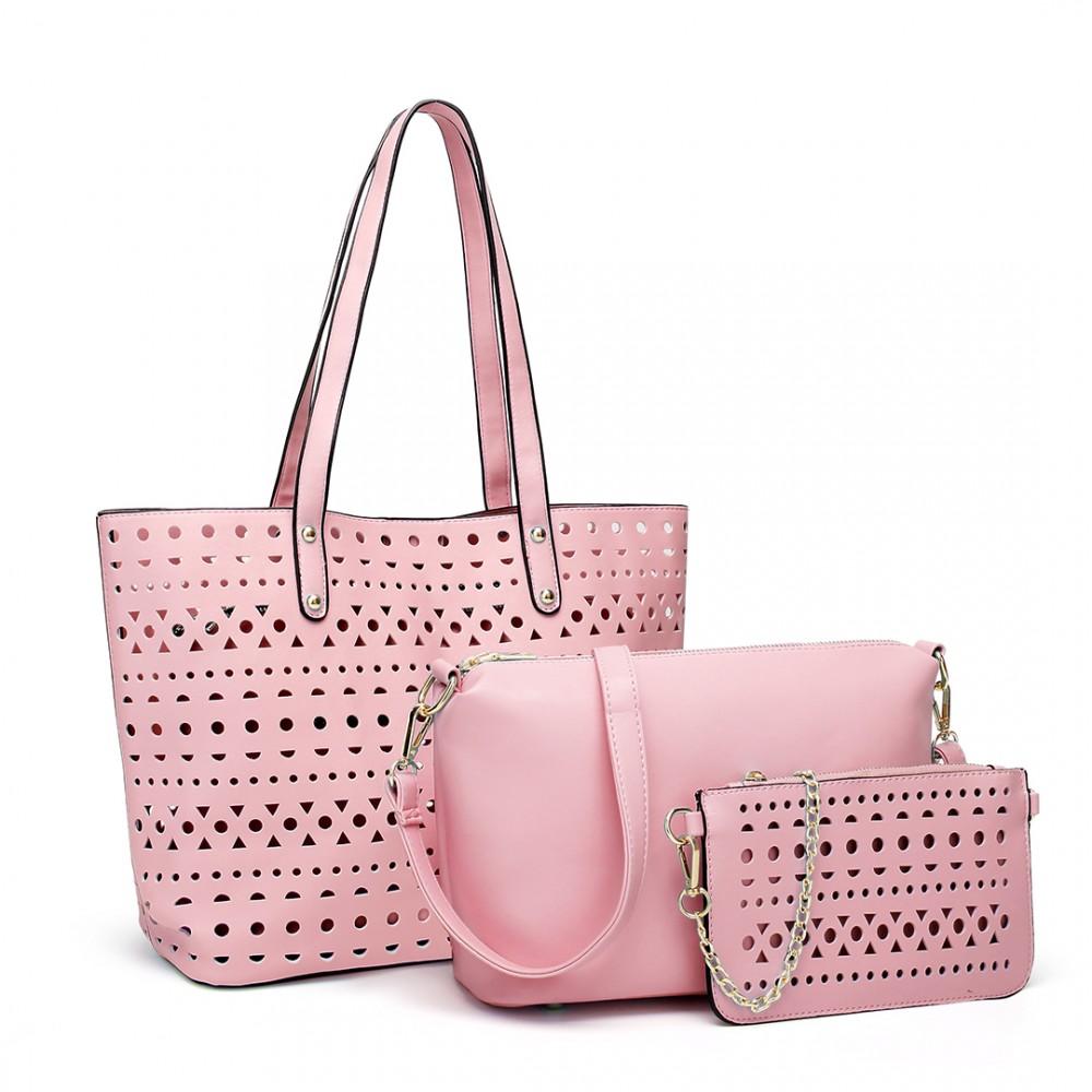 Ružový dámsky kabelkový set Rabbit 3v1 Miss Lulu