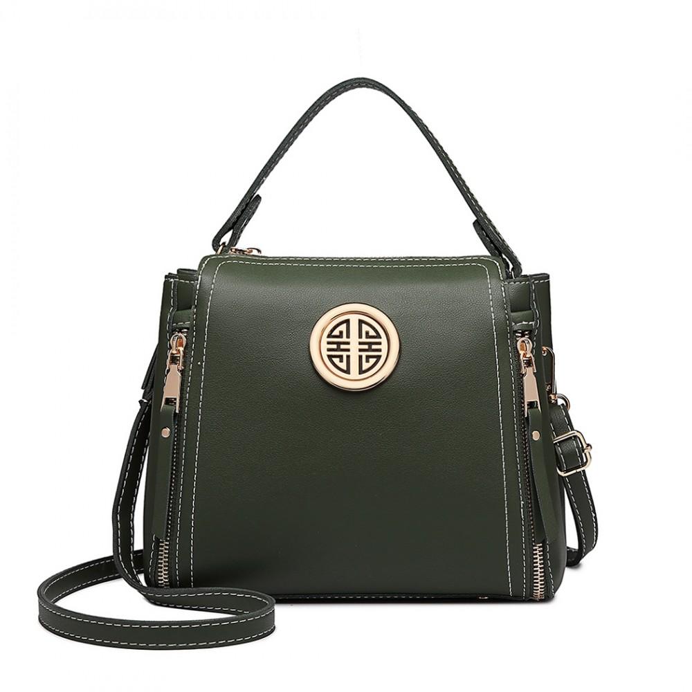 Malá zelená dámska moderná kabelka Miss Lulu