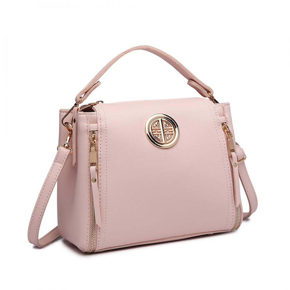 Malá ružová dámska moderná kabelka Miss Lulu