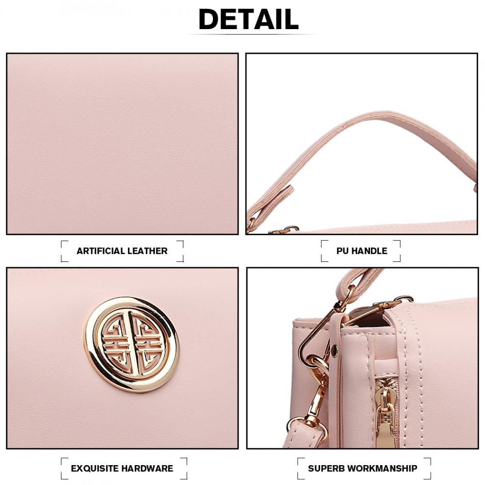 Malá růžová dámská moderní kabelka Miss Lulu