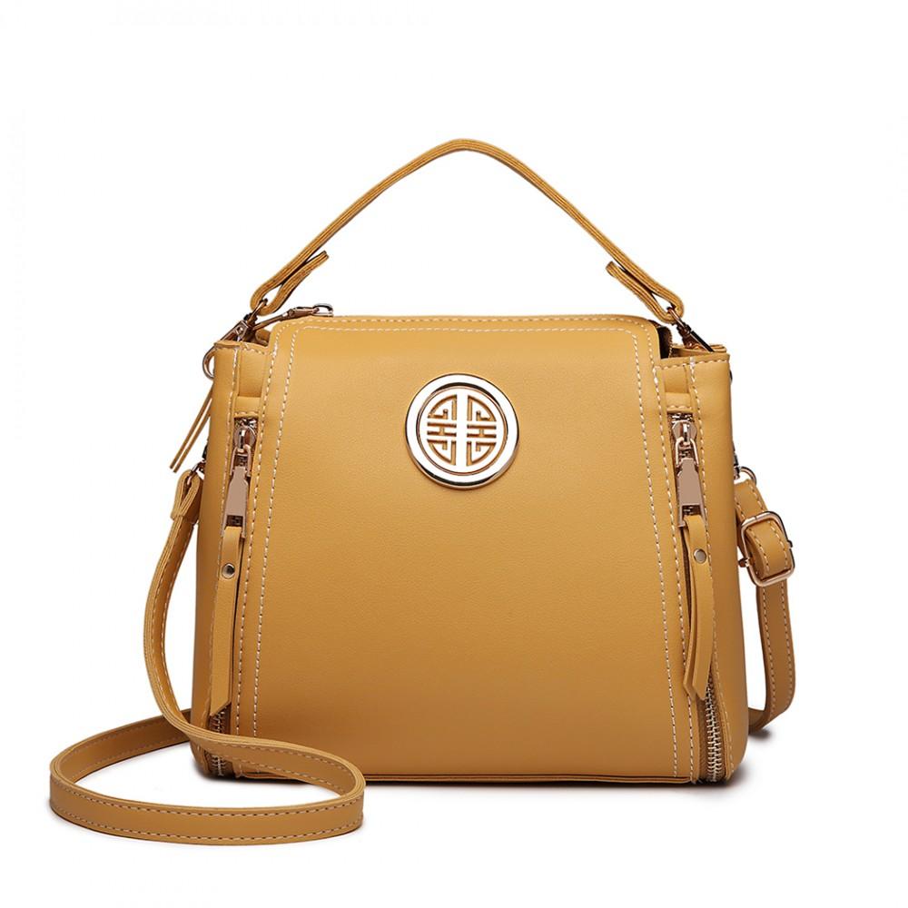 Malá žltá dámska moderná kabelka Miss Lulu