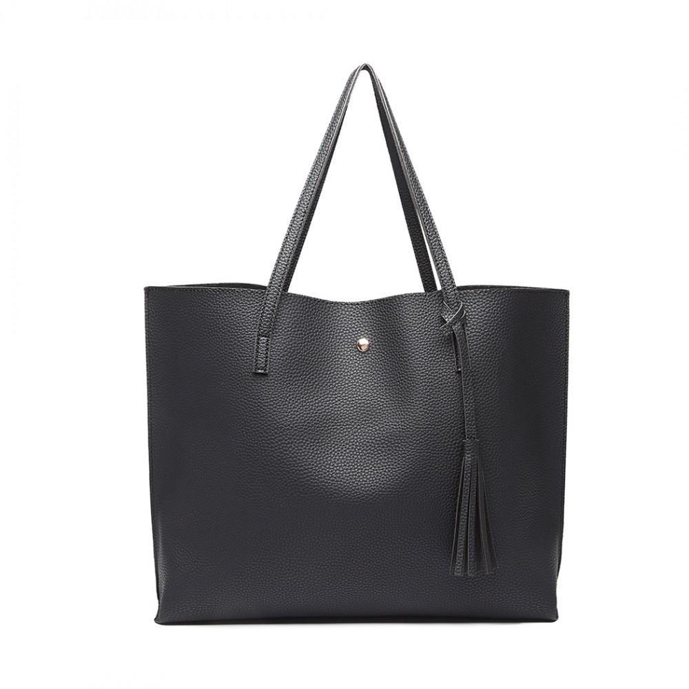 Dámská černá kabelka pro formáty A4 Miss Lulu