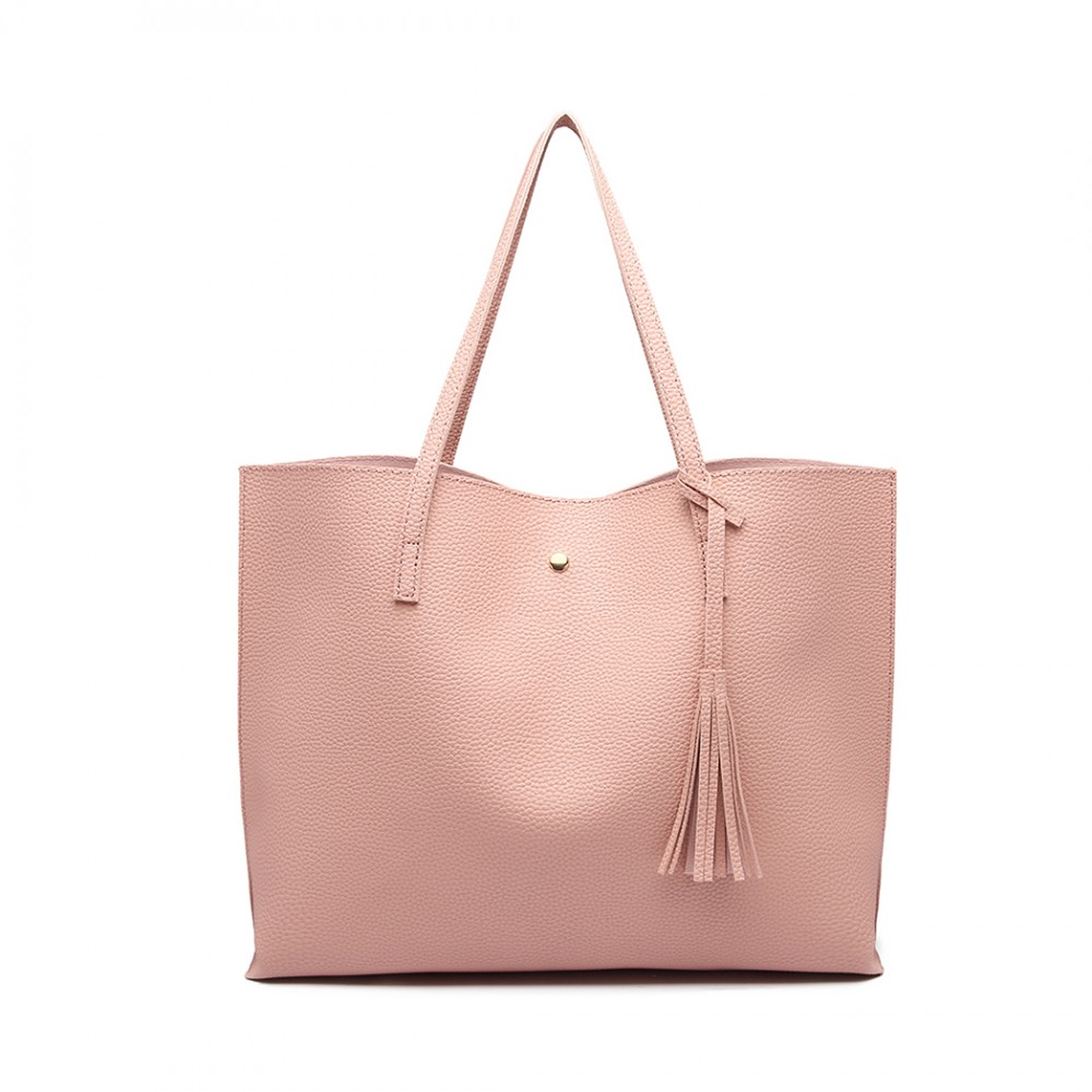 Dámská růžová kabelka pro formáty A4 Miss Lulu