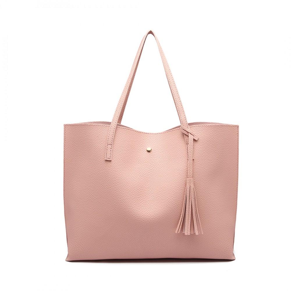 Dámska ružová kabelka pre formáty A4 Miss Lulu