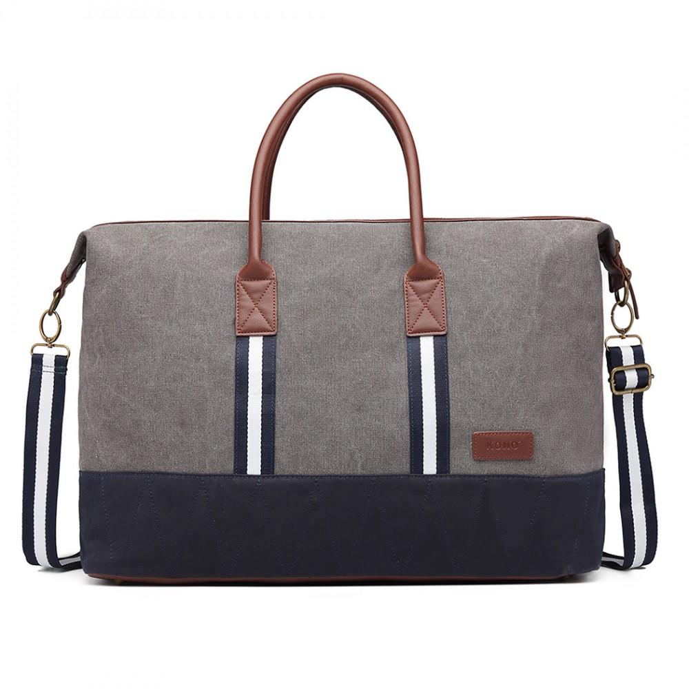 KONO elegantná cestovná taška šedá