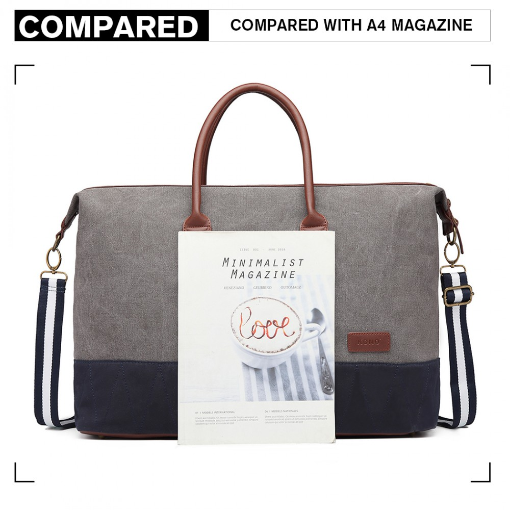 KONO elegantní cestovní taška šedá