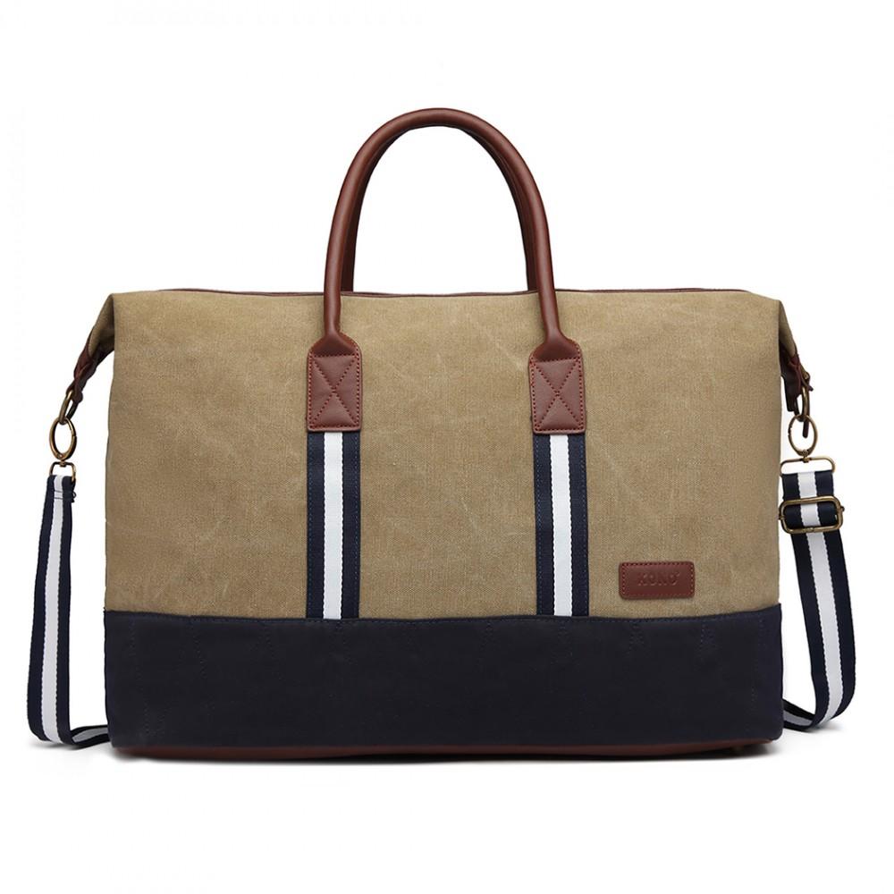 73adb844e8 KONO elegantná cestovná taška khaki empty