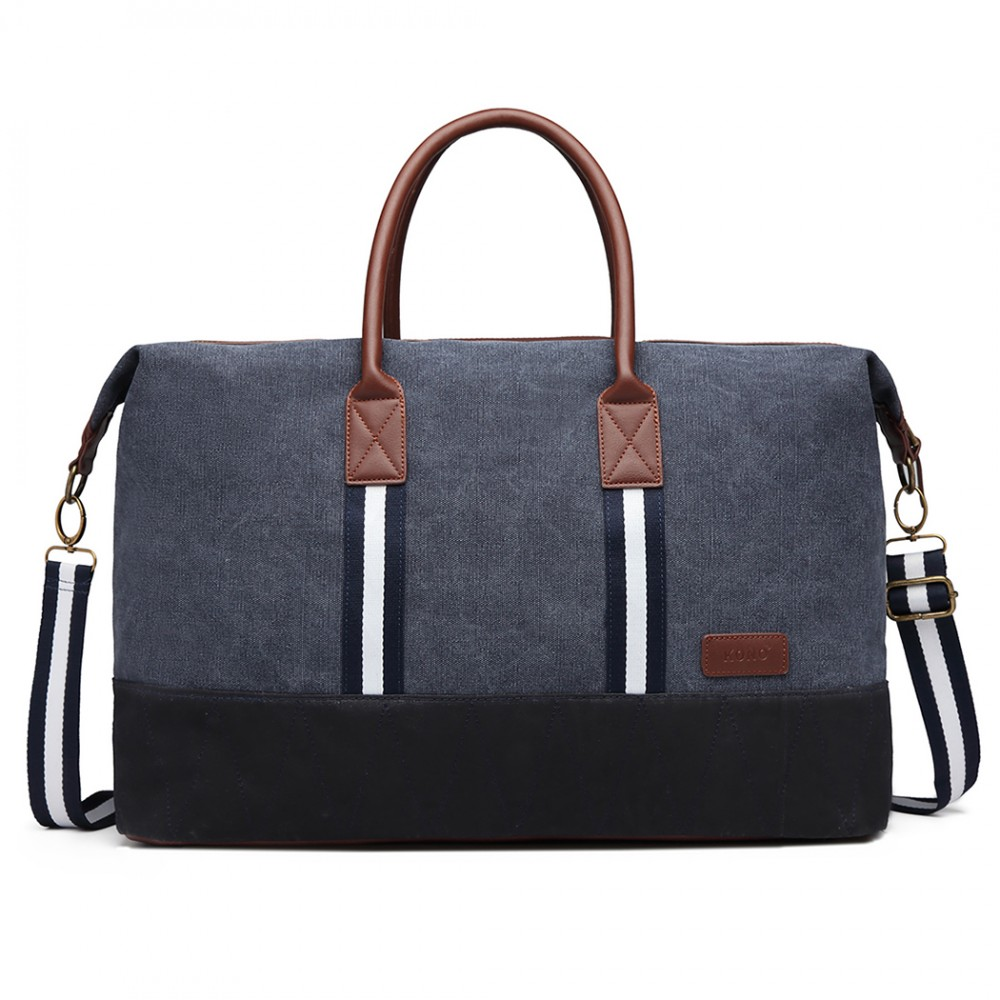 2a798f4127 KONO elegantná cestovná taška námornícka modrá