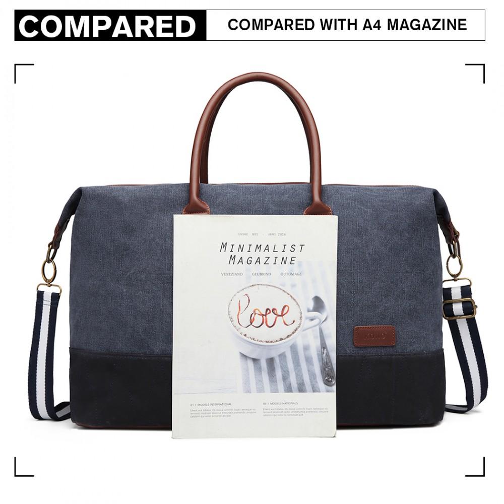 KONO elegantní cestovní taška námořnická modrá