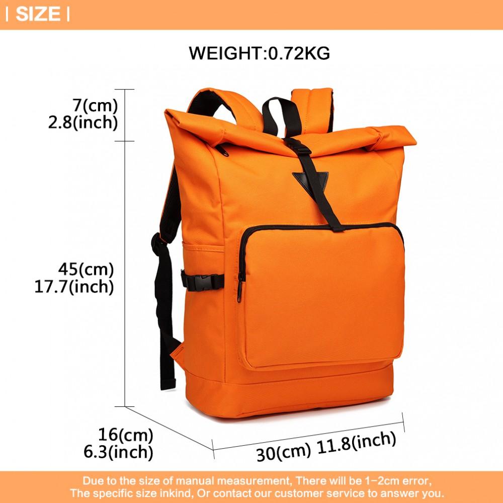 Oranžový školský batoh Miss Lulu UNISEX