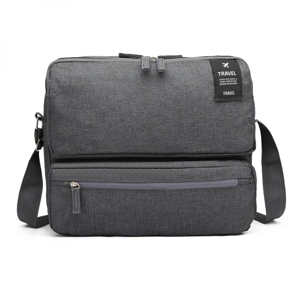 Pánska cestovná taška cez rameno šedá
