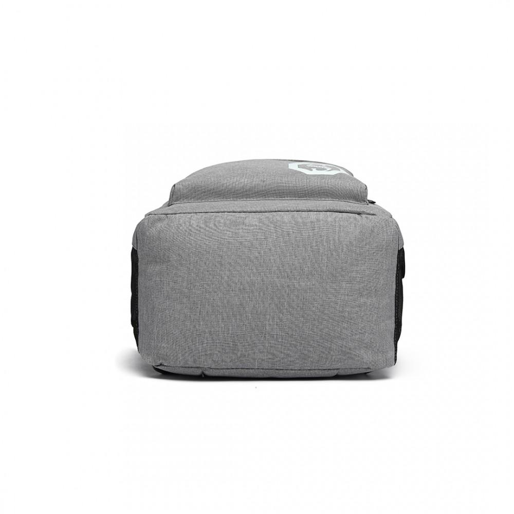 KONO šedý batoh nepromokavý, září ve tmě