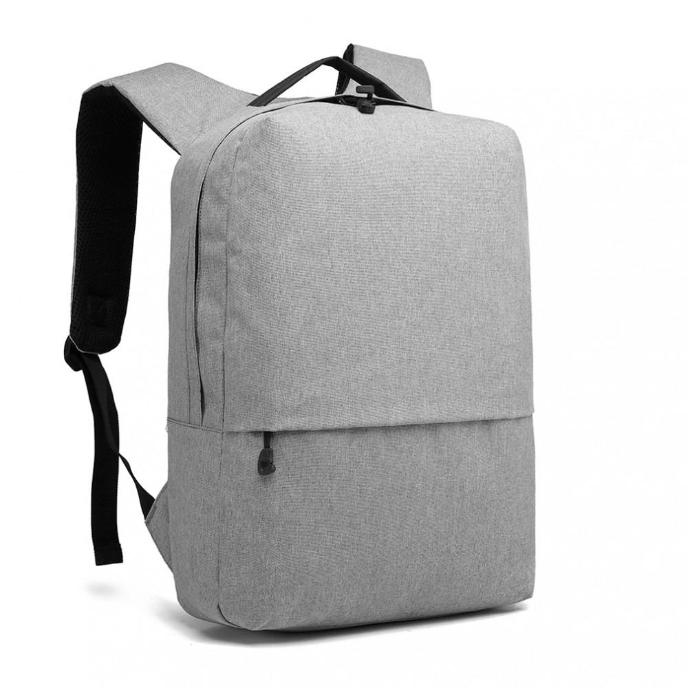 KONO šedý elegantný batoh nepremokavý s USB portom UNISEX