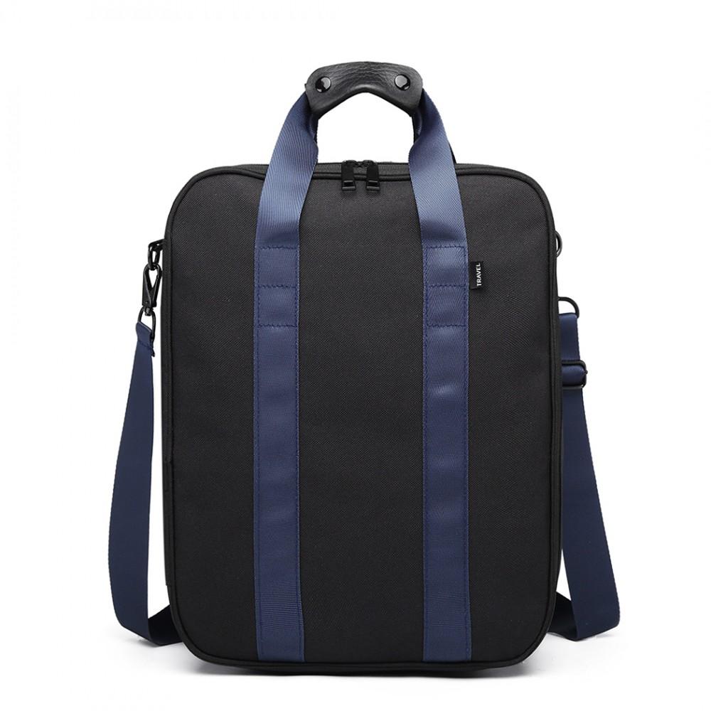 Čierna pánska multifunkčná cestovná taška do ruky aj cez rameno