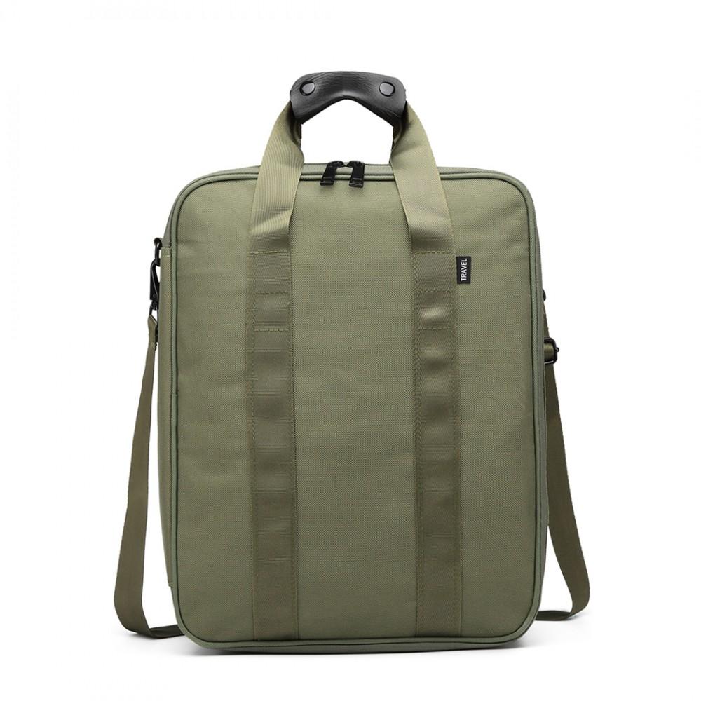 b9709b63ed Khaki pánska multifunkčná cestovná taška do ruky aj cez rameno