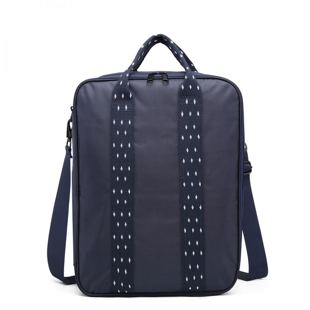 Modrá pánska multifunkčná cestovná taška do ruky aj cez rameno