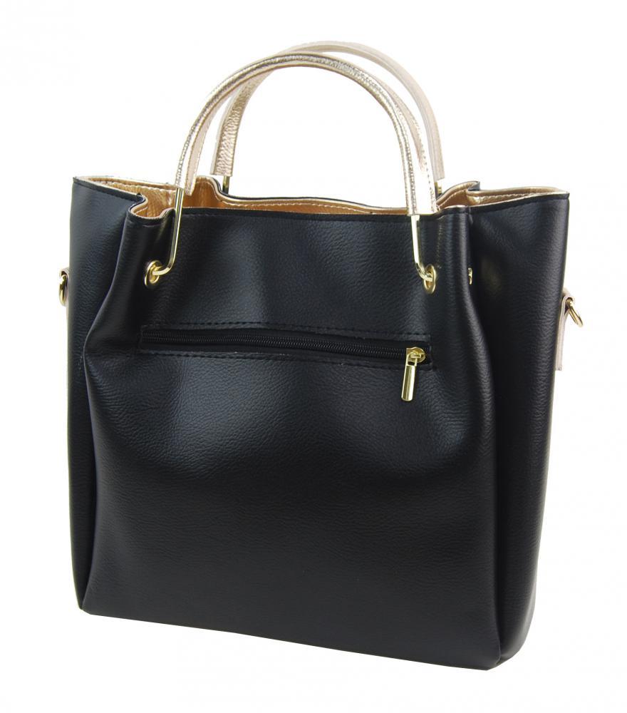 Černo-zlatá elegantní dámská kabelka S728 GROSSO