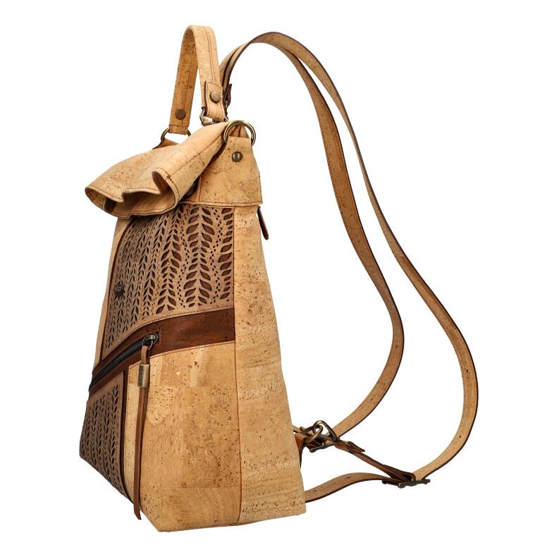 ELENCO Prestižní korkový dámský batoh přírodní