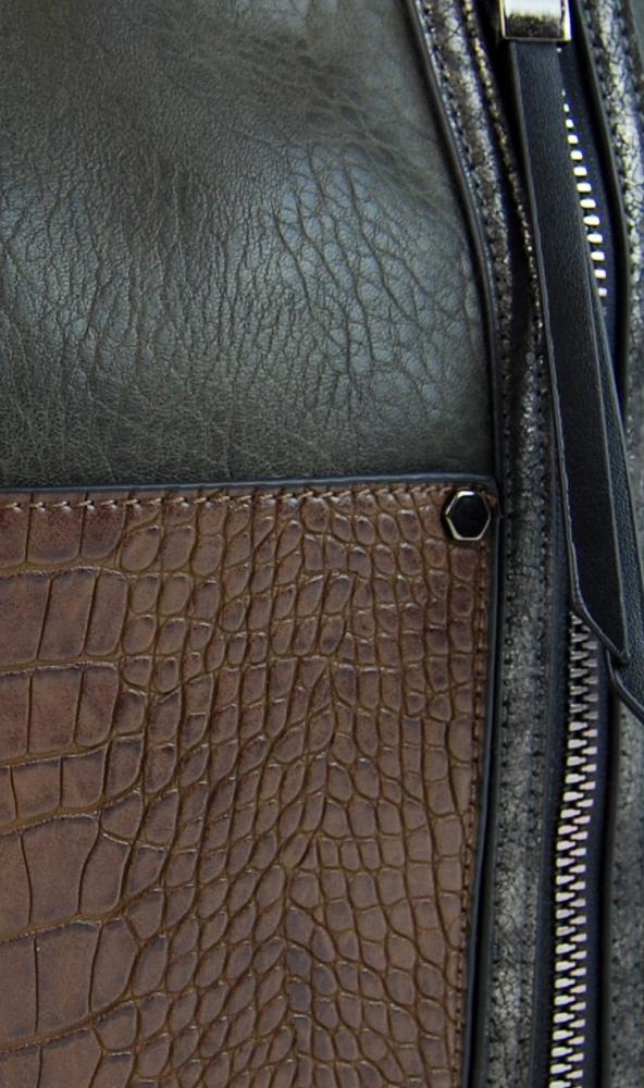 Dámská crossbody kabelka s čelní kroko kapsičkou F-014 zelená