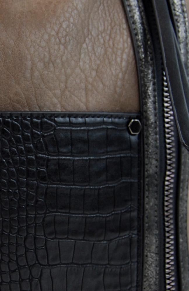 Dámská crossbody kabelka s čelní kroko kapsičkou F-014 přírodní hnědá
