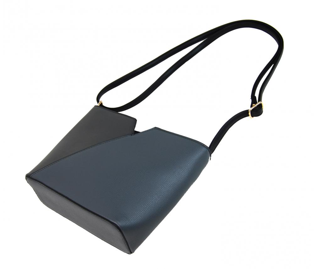 Dámská vyztužená crossbody kabelka F009 šedá
