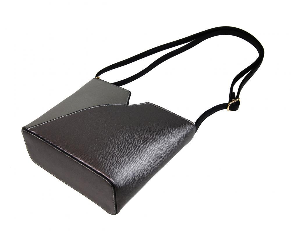 Dámská vyztužená crossbody kabelka F009 stříbrná