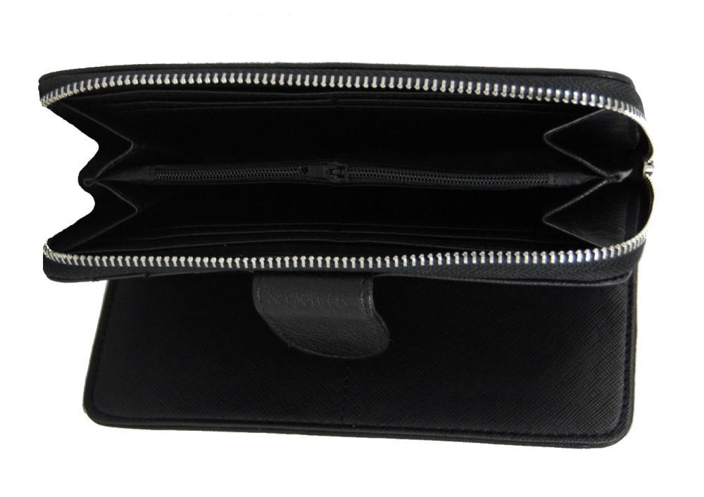 Praktická dámská zipová peněženka černá FD-004