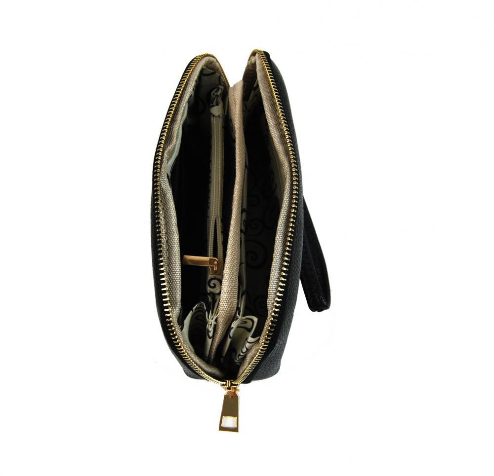 Praktická dámská pouzdrová peněženka tmavě hnědá FD-059