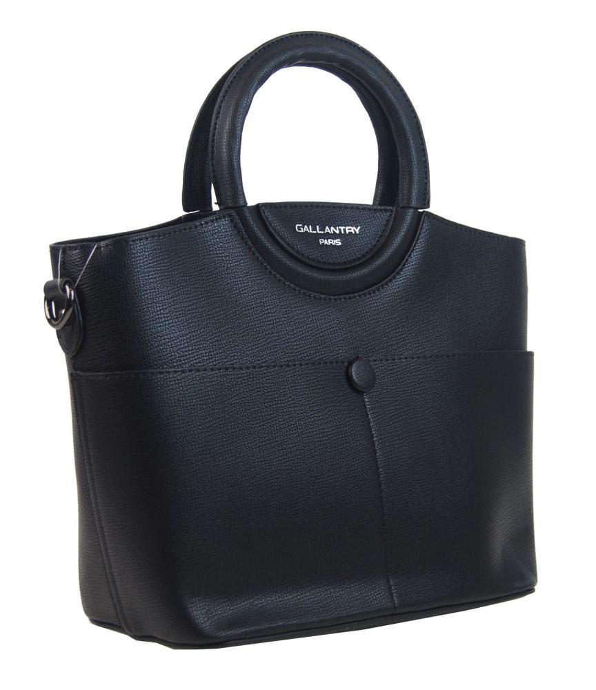 Moderní menší dámská kabelka do ruky černá GALLANTRY