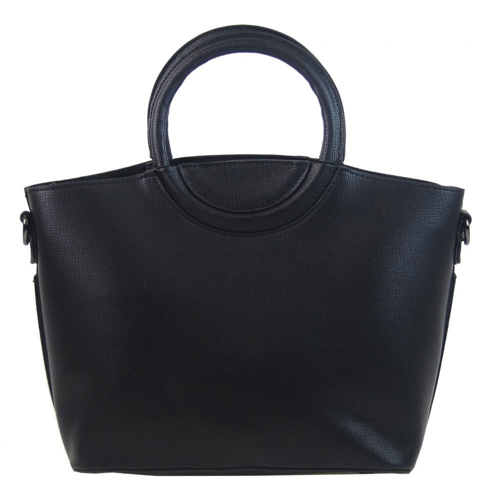 Moderná menšia dámska kabelka do ruky čierna GALLANTRY