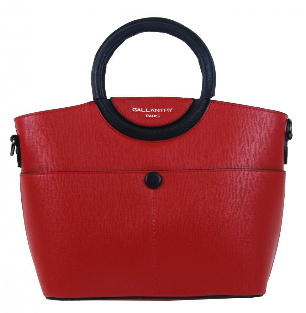 Moderná menšia dámska kabelka do ruky červená GALLANTRY