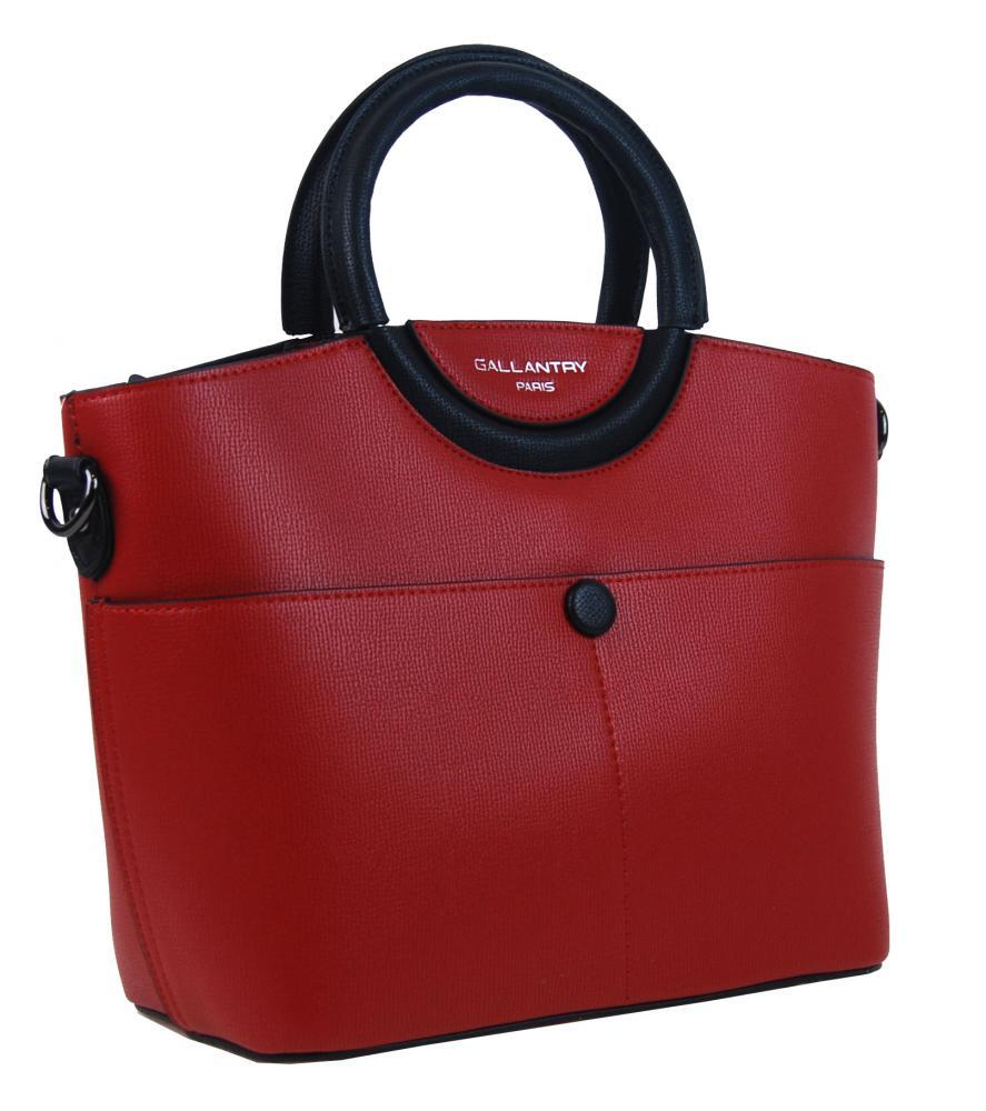 Moderní menší dámská kabelka do ruky červená GALLANTRY