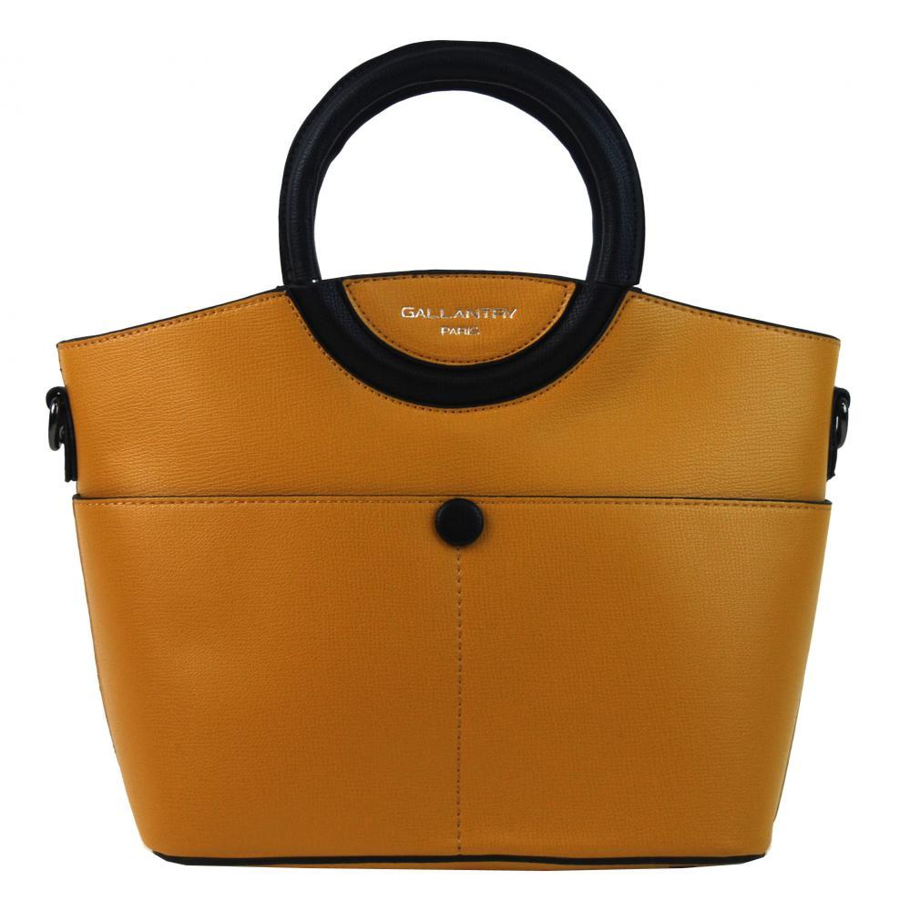 Moderná menšia dámska kabelka do ruky horčicová žltá GALLANTRY