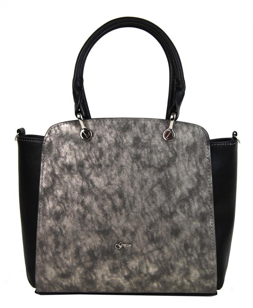 GROSSO Černá vyztužená luxusní dámská kabelka