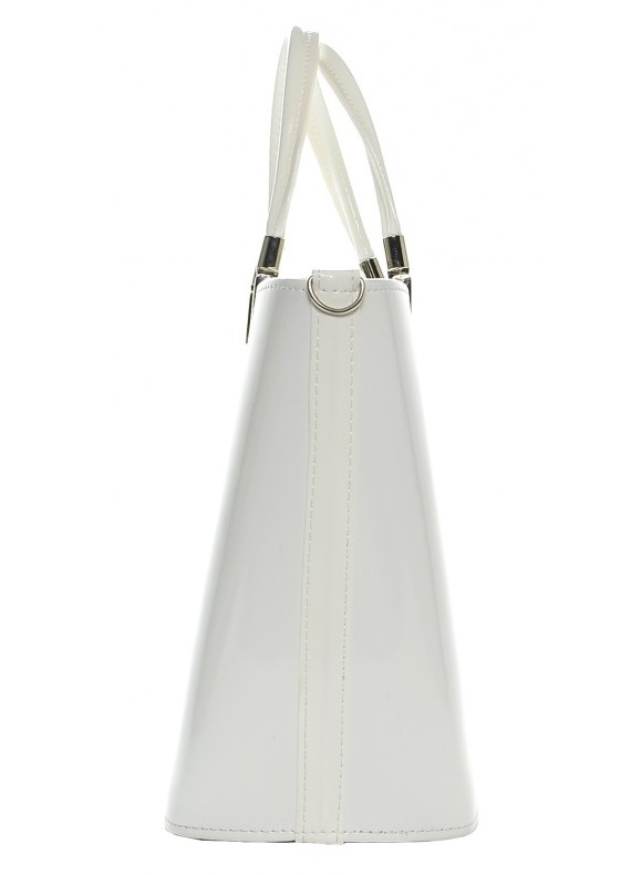 Elegantní bílá lakovaná kabelka S7 GROSSO