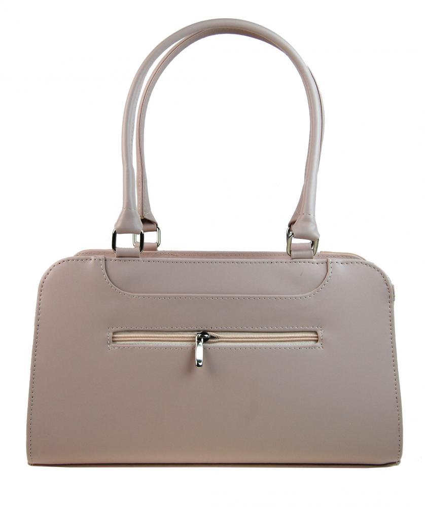Růžovo-lososová elegantní dámská kabelka na rameno S728 GROSSO