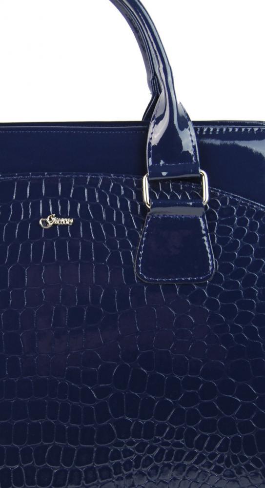 """Dámská elegantní taška na notebook modrý lak ST01 15.6"""" GROSSO"""