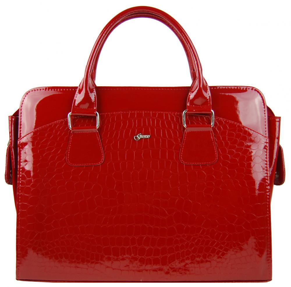 """Dámská luxusní taška na notebook červený lak kroko ST01 15.6"""" GROSSO"""