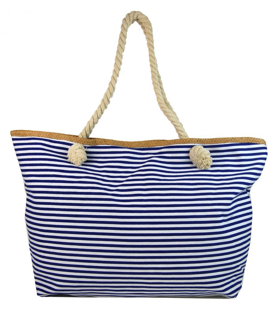 Veľká pruhovaná ľahká plážová taška cez rameno H-106-7